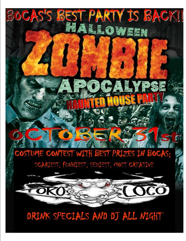Halloween Zombie Apocalypse Haunted House Party